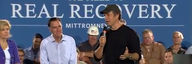 Mike Rowe at Romney campaign stop in Ohio 09-26-2012