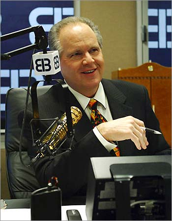Rush Limbaugh at the EIB studio