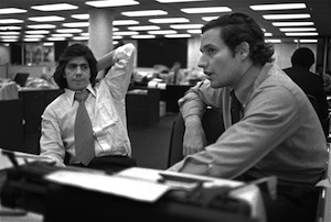 Reporters Carl Bernstein and Bob Woodward