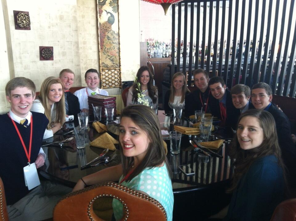 Young conservatives at lunch during CPAC 2013 (Spencer Finch on left)